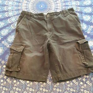 4/$12 Aèropostale black khaki cargo shorts size 36